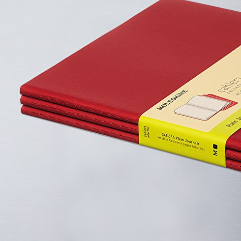 Moleskine Plain Journals Pack of 3