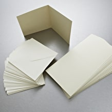 Anita's Square Card and Envelope Pack of 50 Cream