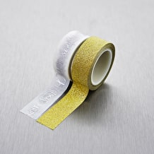 Create Christmas Craft Tape Gold Glitter 5m