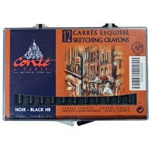Conte Carres Crayon Pack of 12 Black