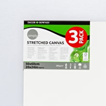 Daler Rowney Value Canvas Triple Pack