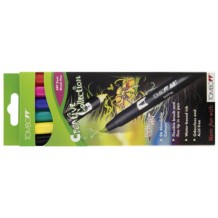 Tombow Dual Brush Pen Pack of 6 Assorted Colours