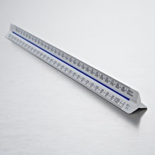 Blundell Harling 300mm Verulam Triangular Metric A Ruler