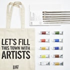 Oil Painting Set with Paint, Canvas, Brushes and Gift Bag