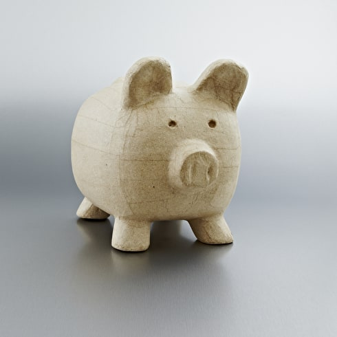 Decopatch Medium Papier Mache Animal Big Piggy bank
