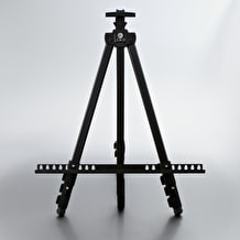 Jakar Aluminium Easel with Telescopic Legs Black
