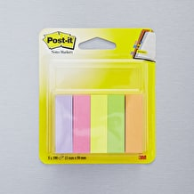 Post it Notes Page Markers 100 Sheets Assorted Colours Set of 5
