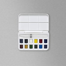 Winsor & Newton Cotman Watercolour Half Pan & Brush Pen Set of 12