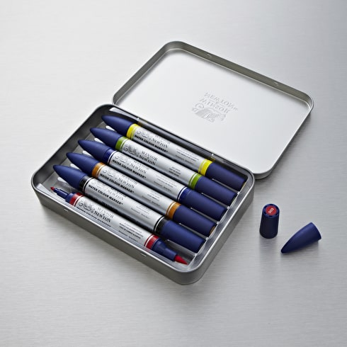 Winsor & Newton Watercolour Marker Set of 6 Assorted