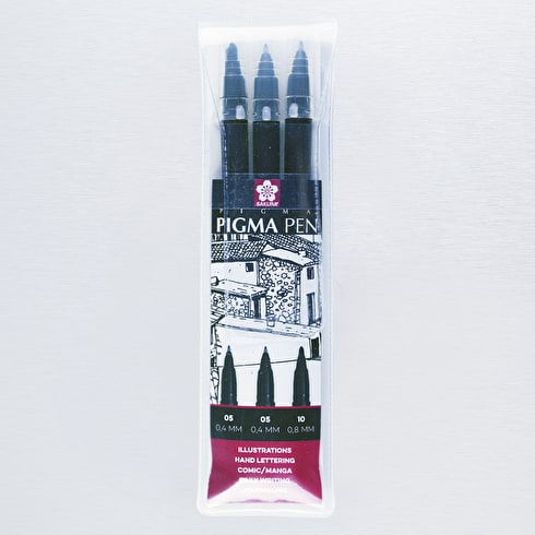 Sakura Pigma Pen Black Set of 3