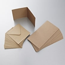 Papermania Recycled Kraft Card & Envelope A6 Pack of 50