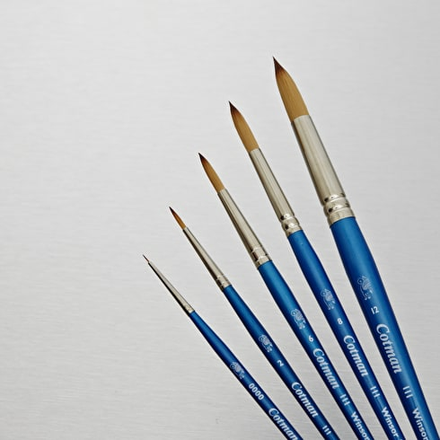 Winsor & Newton Cotman Watercolour Round Series 111 Brush | Best Value Brushes | Cass Art