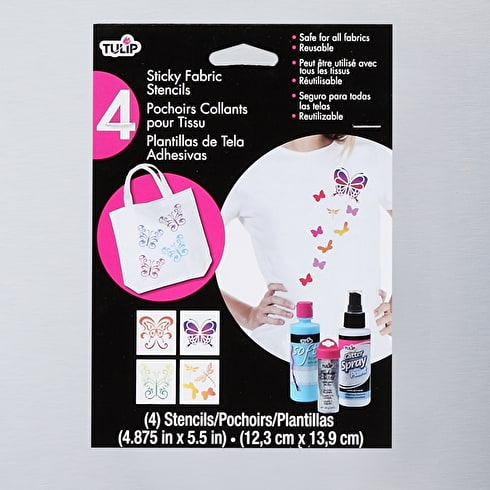 Tulip Small Sticky Stencils Butterflies Pack of 4