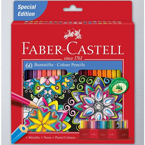 Faber Castell Classic Pencils Assorted Colours Set of 60