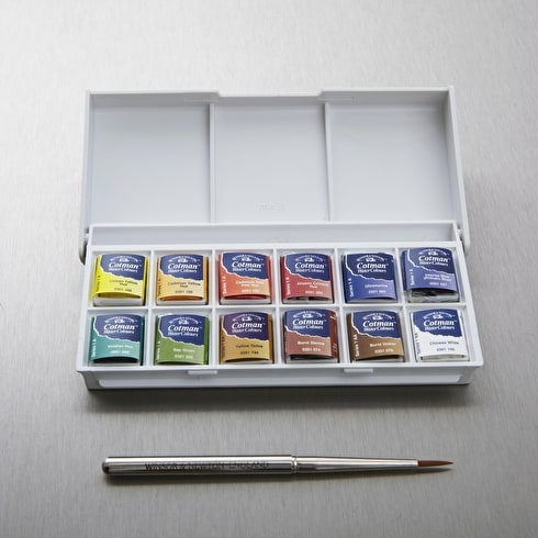 Winsor & Newton Cotman Watercolour Sketchers' Pocket Box | Watercolour Half Pans | Cass Art