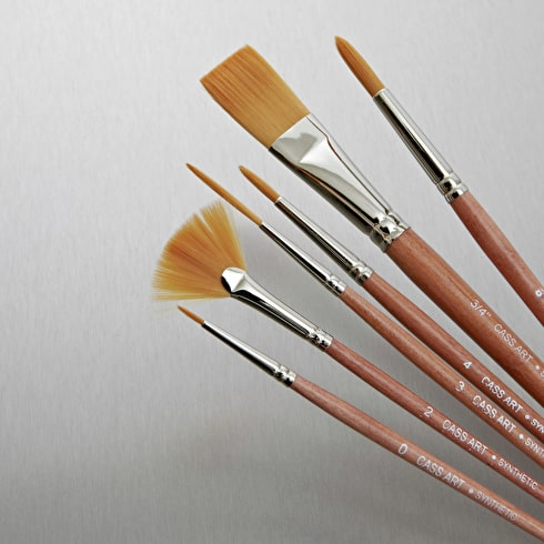 Synthetic Brushes Set of 6 | Artist Brushes | Cass Art