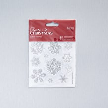 Create Christmas Mini Clear Snowflakes Stamps 102 x 102mm