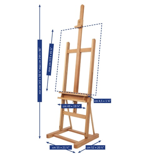 Mabef M09 Artist Studio Easel | Art Studio Equipment