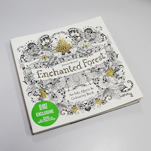 Enchanted Forest with Cass Exclusive Poster by Johanna Basford