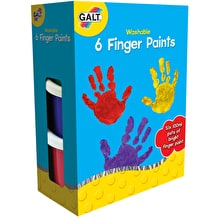 Galt Washable Finger Paints Set of 6 Assorted Colours
