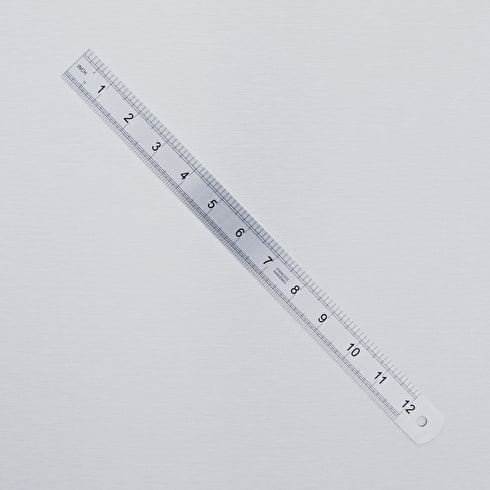 Tech Style Stainless Steel Rule 12 inches