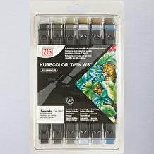 Kuretake Zig Graphic Colour Twin Tip Set of 12
