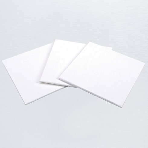 Pebeo White Cotton Canvas Board 10 x 10cm Set of 3
