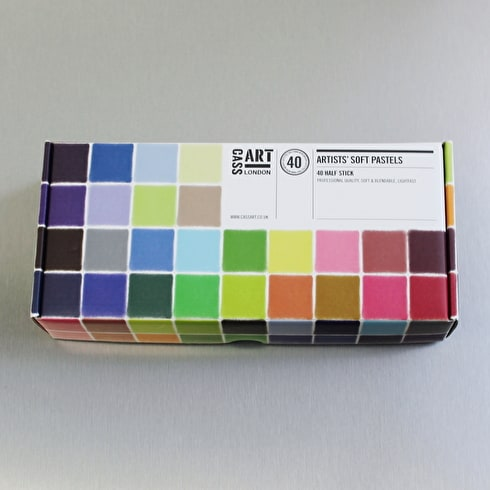 Cass Art Artists' Half Soft Pastels Set of 40