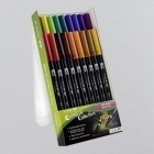 Tombow Dual Brush Pen Set of 18 Assorted Colours