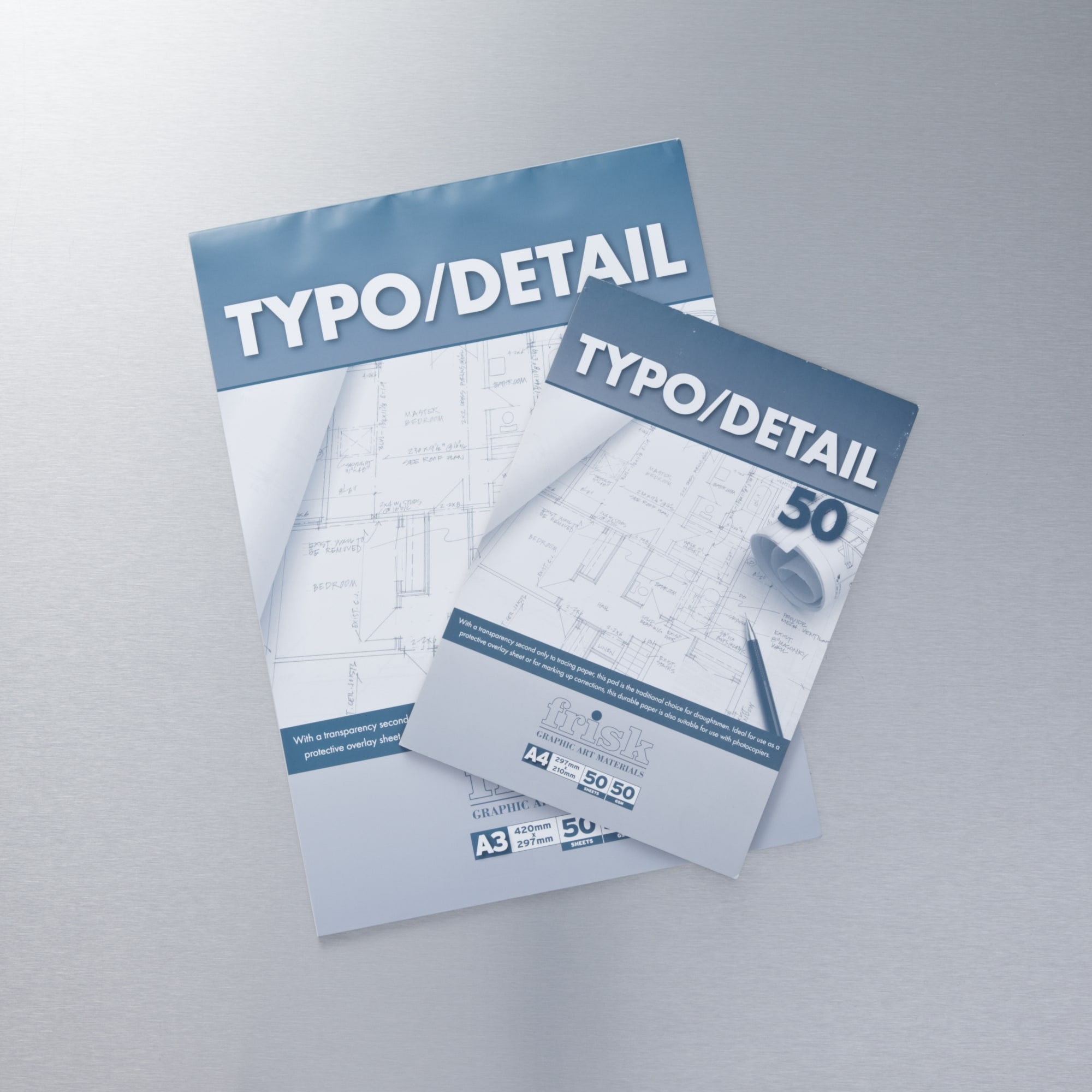 Frisk typo detail 53gm 50 sheets buy graphic paper pads for Buy blueprint paper