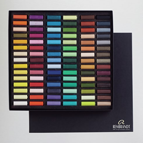 Rembrandt Half Soft Pastels Assorted Colours Set of 90 | Artist Soft Pastels | Cass Art