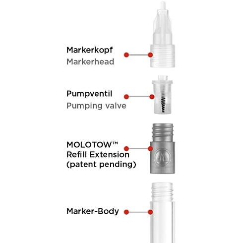 Molotow Refill Extension Pack of 6