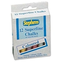 Stephens Chalk Sticks Set of 12 Assorted Colours