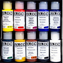 Golden Fluid Professional 30ml Assorted Colours Set of 10