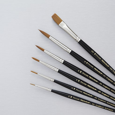 Pro Arte Prolene Series 101/106 Watercolour Brush Set of 6 | Cass Art Exclusive