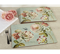 Creative Tops Romantic Garden Pack Of 4 Large Premium Placemats