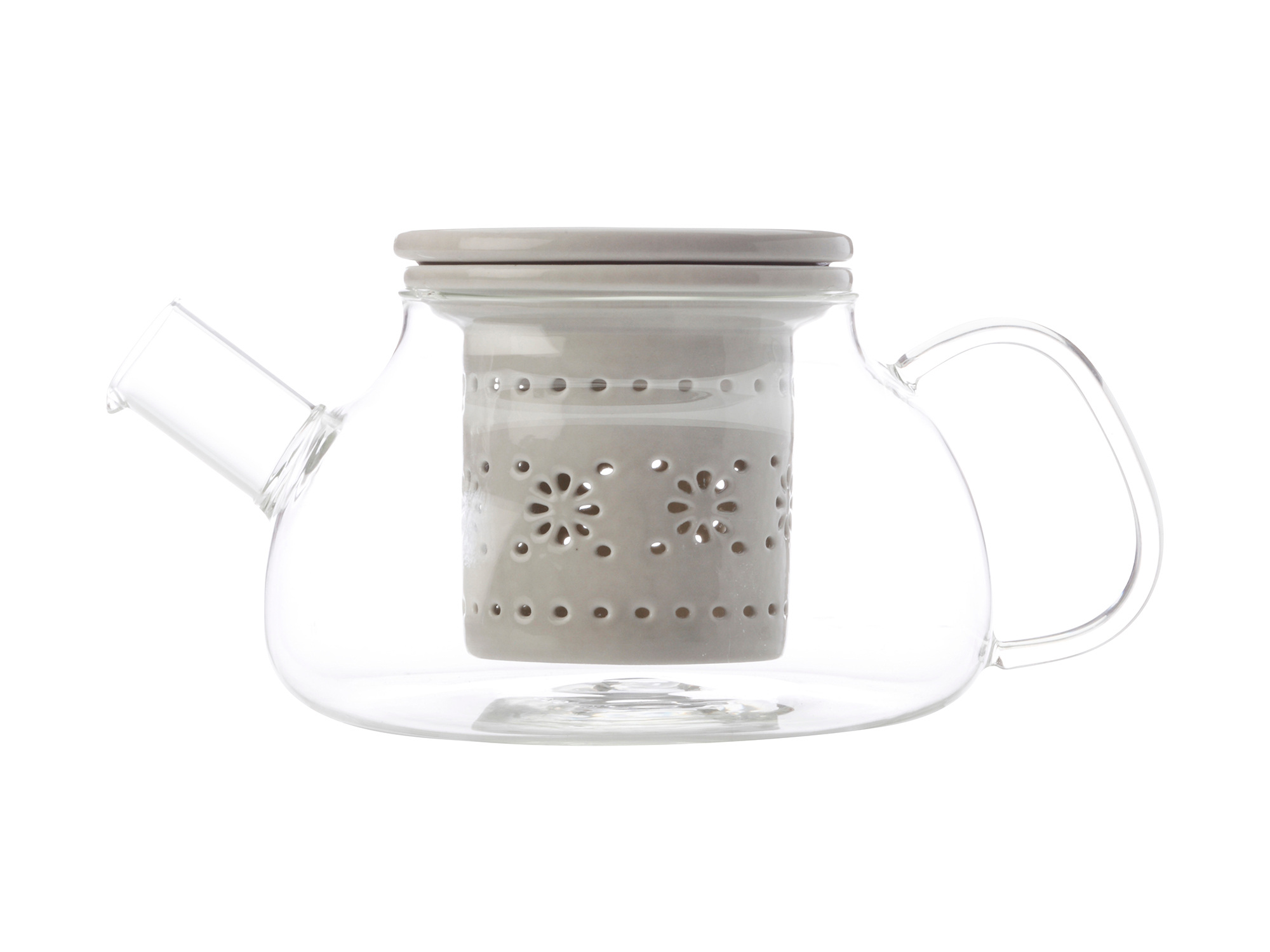Maxwell & Williams Lille 700Ml Glass Teapot With Infuser Grey
