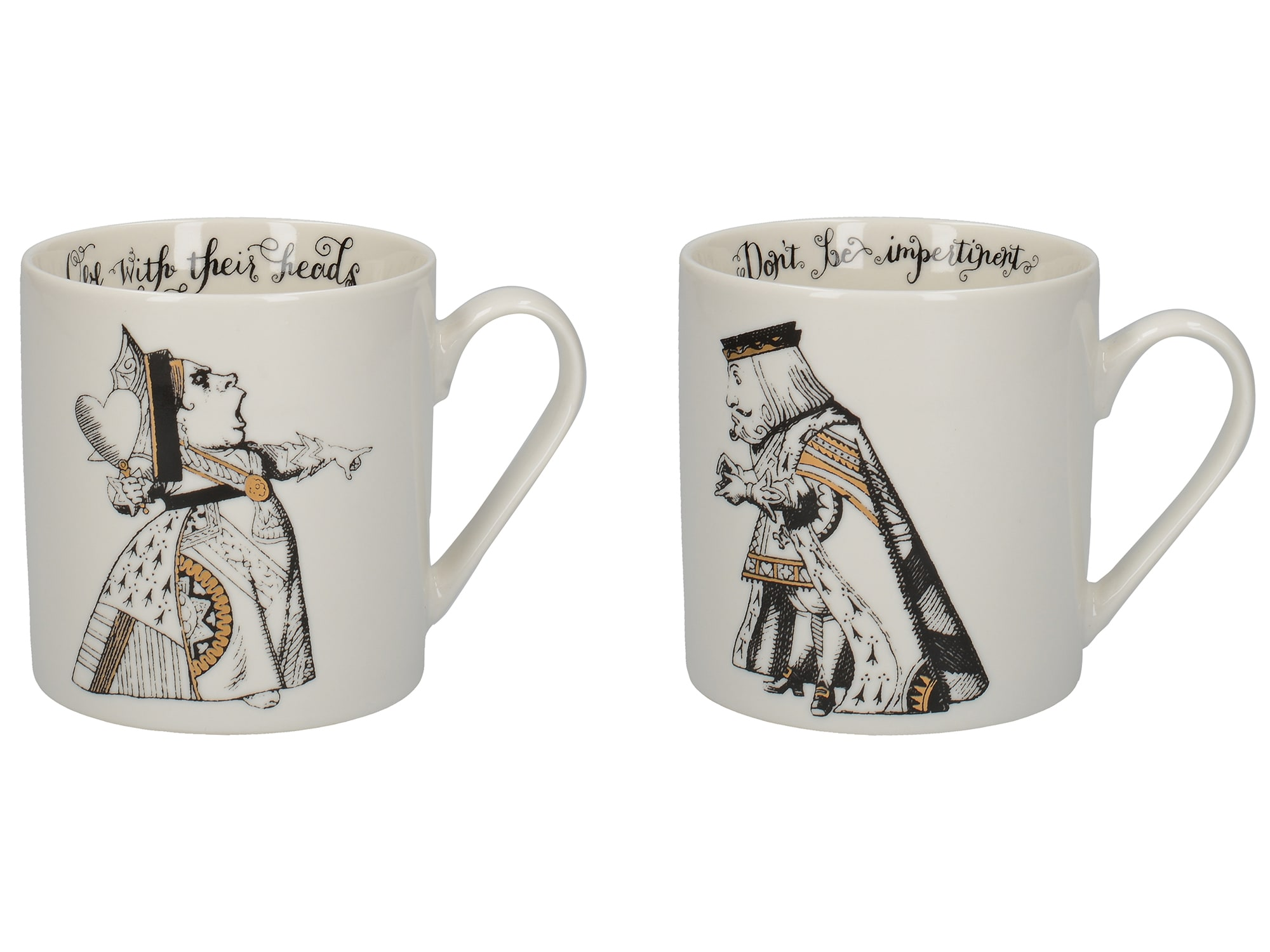 Victoria And Albert Alice In Wonderland Set Of 2 His And Hers Carn Mugs