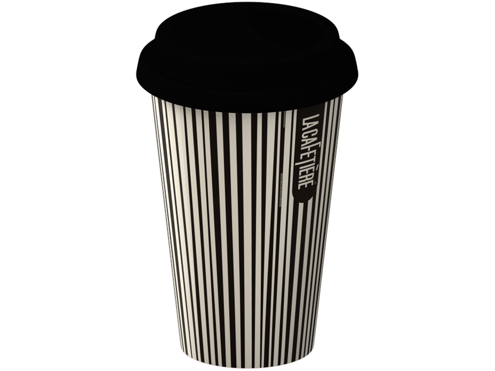La Cafetiere Black Stripe Travel Mug