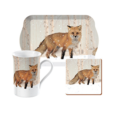 Creative Tops Snow Scenes Fox Time For Tea