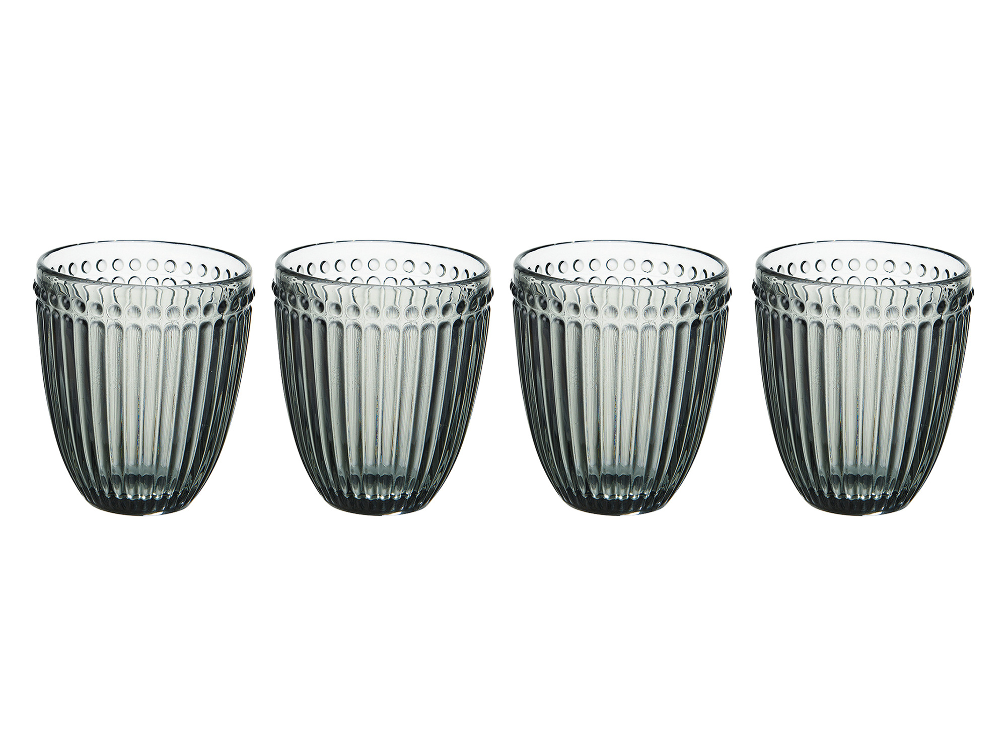 Mikasa Italian Countryside Set Of 4 Double Old Fashion 10Oz Glasses Smoke