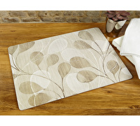 Everyday Home Neutral Leaves Pack Of 2 Large Placemats
