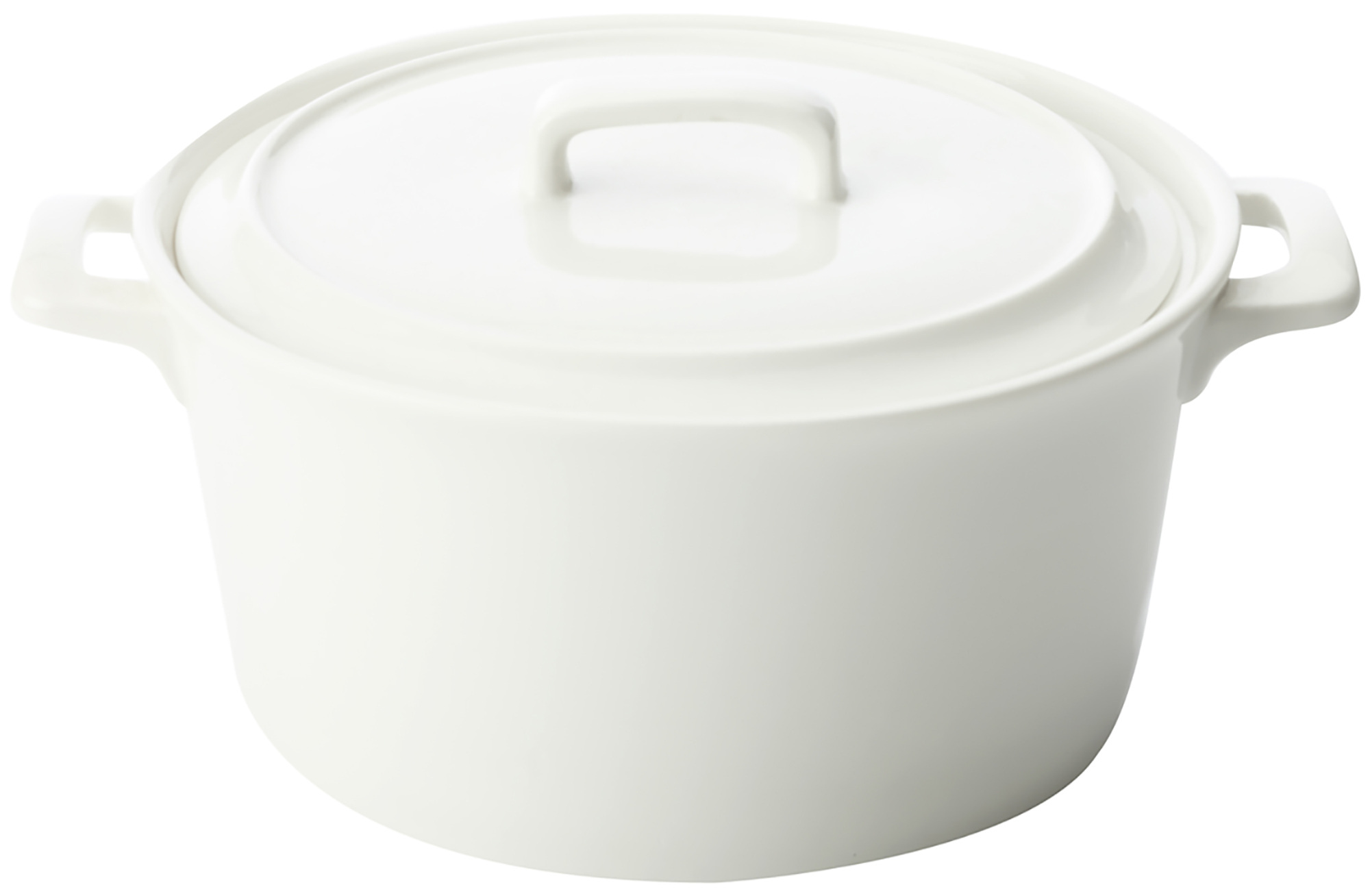 Maxwell & Williams White Basics Chef Du Monde 1.7L Round Casserole Gift Boxed