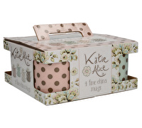 Katie Alice Cottage Flower Set Of 4 Spot Mugs
