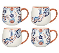 Victoria And Albert Rococo Silk Set Of 4 Mugs