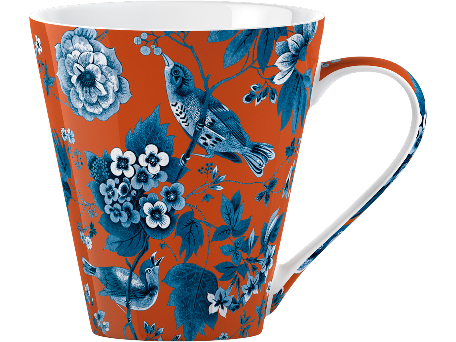 Victoria and Albert Garden Birds Conical Mug Orange
