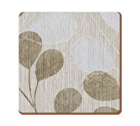 Everyday Home Neutral Leaves Pack Of 4 Coasters