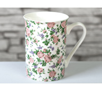 Everyday Home Pink Ditsy Flared Rim Mug