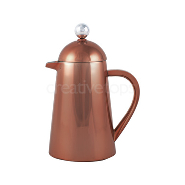La Cafetiere Thermique Copper Double Walled 8 Cup Cafetiere