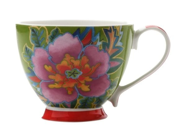Maxwell & Williams Hanoi Flower Hibiscus 400Ml Mug Green Gift Boxed